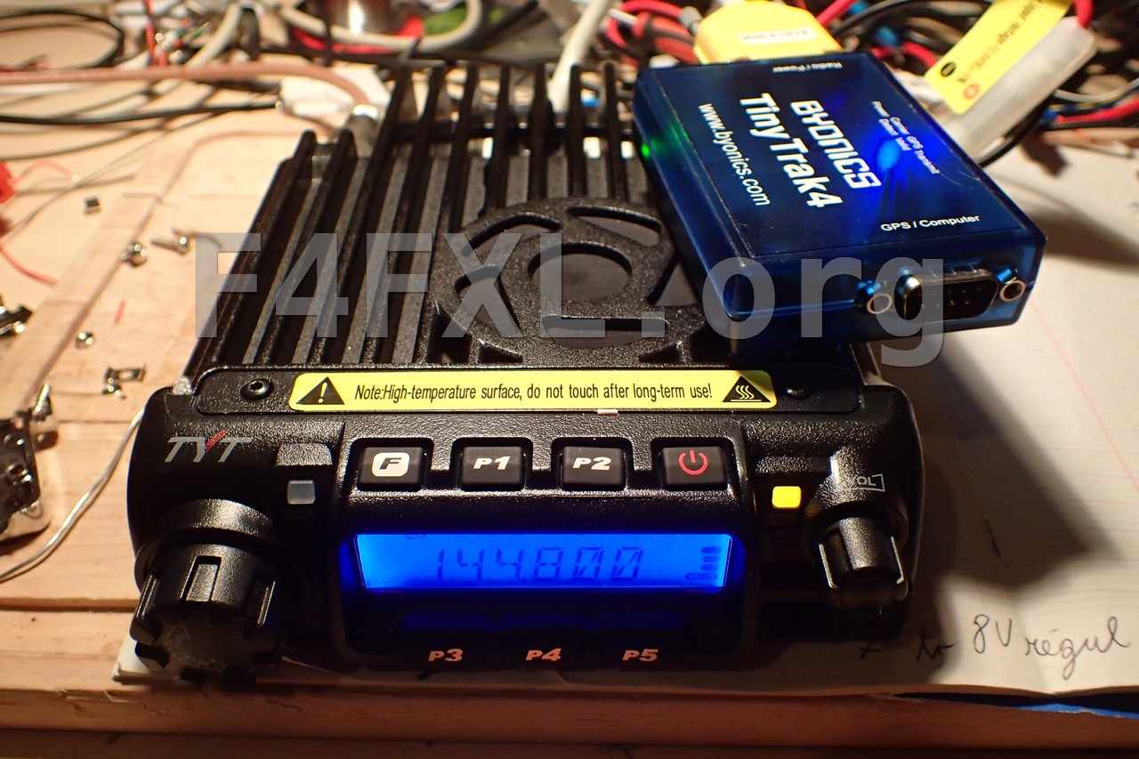 TYT TH-9000D with Tinytrak 4 for APRS
