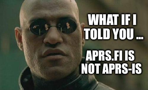 APRS.fi is not APRS-IS